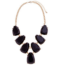 Buy John Lewis Gold Toned Large Stone Necklace, Black Online at johnlewis.com