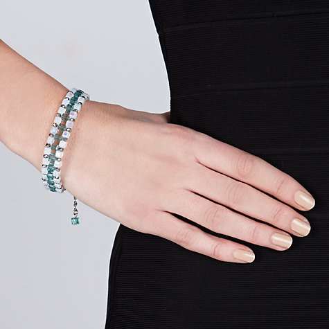 Buy John Lewis Mini Square Sparkling Bracelet, Teal Online at johnlewis.com