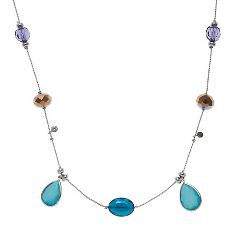 Buy John Lewis Silver Plated Assorted Beads Long Necklace, Multi Online at johnlewis.com