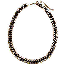 Buy John Lewis Cord Weave Box Chain Necklace, Black Online at johnlewis.com