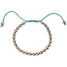 Buy John Lewis Silver Plated Ball Friendship Bracelet, Teal Online at johnlewis.com