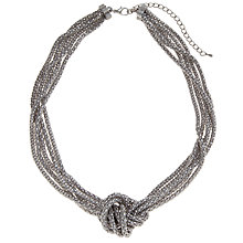 Buy John Lewis Silver Plated Chain Mesh Knot Necklace Online at johnlewis.com