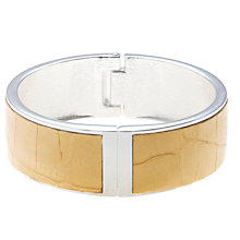 Buy John Lewis Silver Plated Tan Leather Bangle Online at johnlewis.com