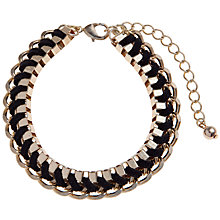 Buy John Lewis Gold Plated Chunky Bracelet, Black Online at johnlewis.com