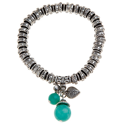 Buy John Lewis Silver Plated Charm Bracelet, Teal Online at johnlewis.com