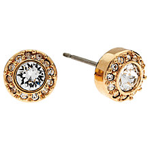 Buy Cachet London Rose Gold Plated Swarovski Crystal Surround Earrings Online at johnlewis.com