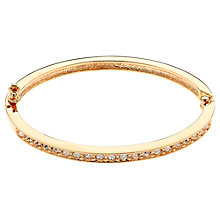 Buy Cachet Pave Swarovski Crystal Hinged Bangle, Rose Gold Online at johnlewis.com