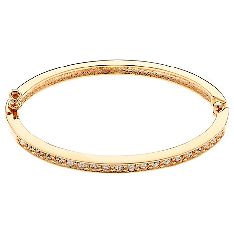Buy Cachet London Rose Gold Plated Pave Swarovski Crystal Hinged Bangle Online at johnlewis.com