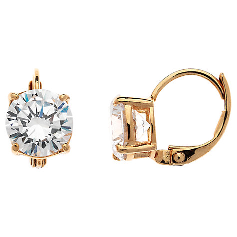 Buy Cachet London Rose Gold Plated Swarovski Crystal Leverback Earrings Online at johnlewis.com