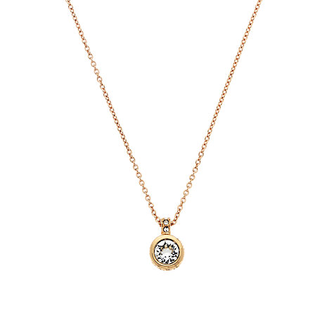 Buy Cachet London Rose Gold Plated Brilliant Cut Swarovski Crystal Pendant Online at johnlewis.com