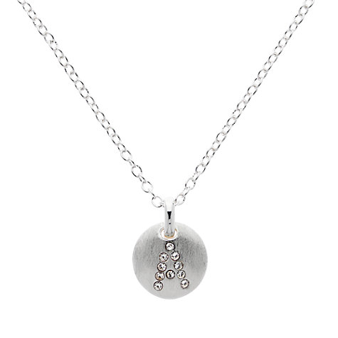 Buy Melissa Odabash Silver Plated Crystal Letter Pendant Online at johnlewis.com