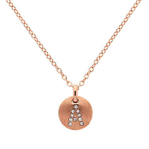 Buy Melissa Odabash Rose Gold Plated Crystal Letter Pendant Online at johnlewis.com