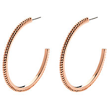 Buy Melissa Odabash Rose Gold Plated Crystal Ball Hoop Earrings Online at johnlewis.com