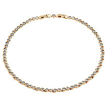 Buy Cachet London Rose Gold Plated Swarovski Crystal Tennis Necklace Online at johnlewis.com