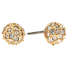 Buy Cachet London Rose Gold Plated Swarovski Crystal Pave Small Earrings Online at johnlewis.com