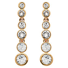 Buy Cachet London Rose Gold Plated Swarovski Crystal Puzzle Drop Earrings Online at johnlewis.com