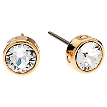 Buy Cachet London Rose Gold Plated Bezel Set Swarovski Crystal Stud Earrings Online at johnlewis.com