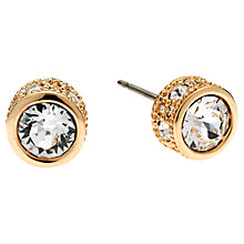 Buy Cachet London Rose Gold Plated Swarovski Crystal Textured Edge Earrings Online at johnlewis.com