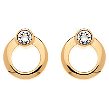 Buy Cachet London Rose Gold Plated Swarovski Crystal Orbit Earrings Online at johnlewis.com