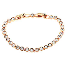 Buy Cachet London Rose Gold Plated Swarovski Crystal Tennis Bracelet Online at johnlewis.com