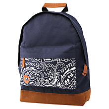 Buy Mi-Pac Paisley Rucksack, Navy Online at johnlewis.com
