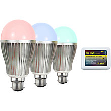 Buy Hasled 6W BC LED Colour Changing Wifi Controlled Bulb Kit, Pack of 2 Online at johnlewis.com