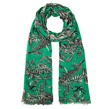 Buy Somerset by Alice Temperley Bird & Leaf Print Crepe Scarf, Green Online at johnlewis.com