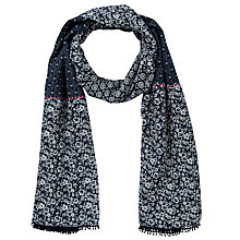 Buy John Lewis English Midnight Garden Cotton Scarf, Navy Online at johnlewis.com
