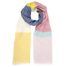 Buy Kin by John Lewis Wide Stripe Scarf, Multi Online at johnlewis.com