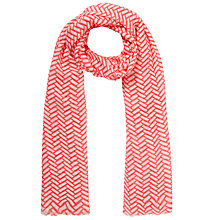 Buy COLLECTION by John Lewis Parque Print Scarf, Pink Online at johnlewis.com
