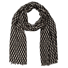 Buy John Lewis Block Print Scarf, Black Online at johnlewis.com