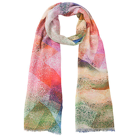 Buy COLLECTION by John Lewis Digital Abstract Print Scarf, Multi Online at johnlewis.com