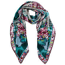 Buy COLLECTION by John Lewis Orchid Print Silk Square Scarf, Multi Online at johnlewis.com