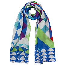 Buy COLLECTION by John Lewis Diamond Graphique Print Scarf, Multi Online at johnlewis.com