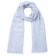 Buy COLLECTION by John Lewis Parque Print Scarf, Blue Online at johnlewis.com
