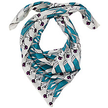 Buy John Lewis 20s Print Silk Square Scarf Online at johnlewis.com