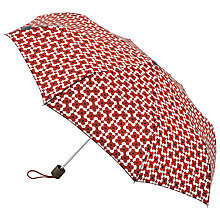 Buy Orla Kiely Minilite Flower Shadow Print Umbrella, Red Online at johnlewis.com