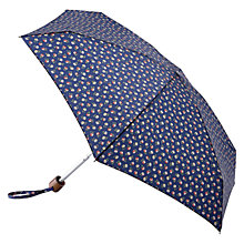 Buy Cath Kidston Tiny Elgin Ditsy Print Folding Umbrella, Navy Blue Online at johnlewis.com