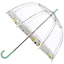 Buy John Lewis 150 Years Commemoration Street Scene Birdcage Umbrella, Clear Online at johnlewis.com