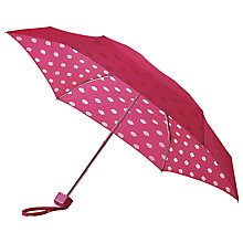 Buy Lulu Guinness Tiny Lips Print Umbrella, Pink Online at johnlewis.com