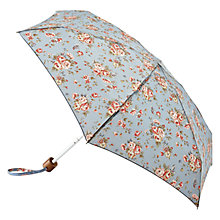 Buy Cath Kidston Tiny Folding Westbourne Rose Print Umbrella, Pale Blue Online at johnlewis.com