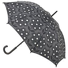 Buy Orla Kiely Kensington Walking Rhododendron Print Umbrella, Graphite Online at johnlewis.com