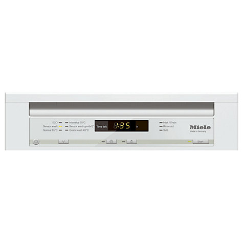 Buy Miele G4700 SC Slimline Dishwasher, White Online at johnlewis.com