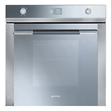 Buy Smeg SFP125 Single Electric Oven, Stainless Steel/ Silver Glass Online at johnlewis.com