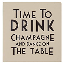 Buy East of India Time To Drink Champagne and Dance on the Table Ink Stamp, Multi Online at johnlewis.com