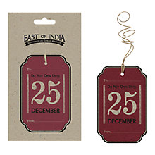 Buy East Of India Do Not Open Until 25 December Gift Tags, Red Online at johnlewis.com