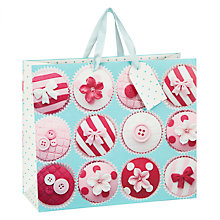 Buy John Lewis Cupcake Gift Bag, Multi, Medium Online at johnlewis.com