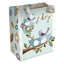 Buy Caroline Gardener Baby Boy Birds Gift Bag, Blue, Small Online at johnlewis.com