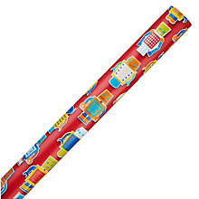 Buy John Lewis Robots Wrapping Paper, Multi Online at johnlewis.com