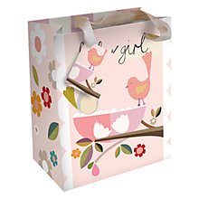 Buy Caroline Gardener Baby Girl Birds Gift Bag, Pink, Small Online at johnlewis.com